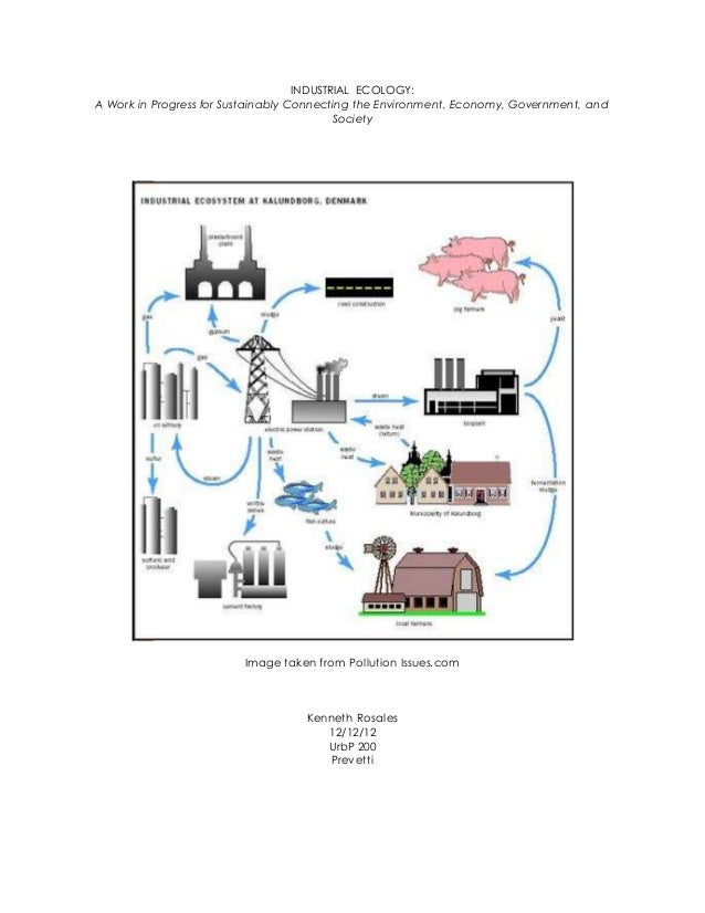 INDUSTRIAL ECOLOGY: A Work in Progress for Sustainably Connecting the Environment, Economy, Government, and Society Image ...