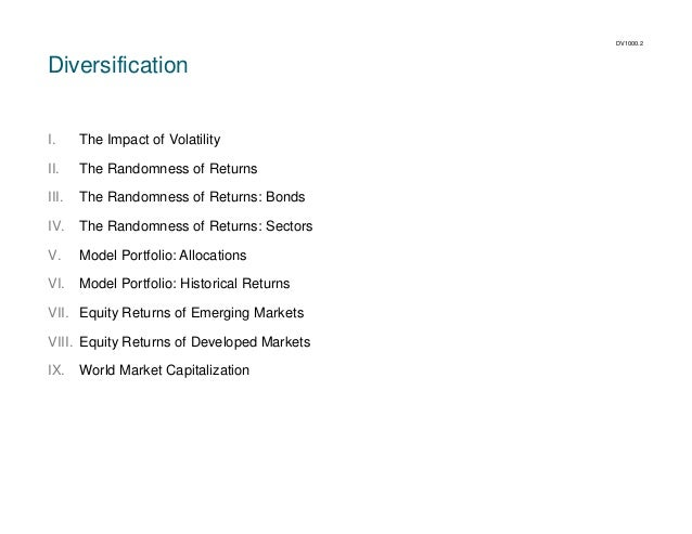 DV1000.2  Diversification  I.  The Impact of Volatility  II.  The Randomness of Returns  III.  The Randomness of Returns: ...