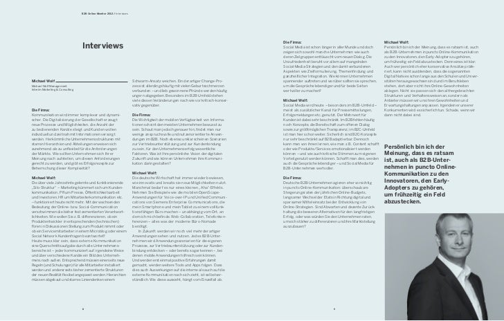 B2B Online-Monitor 2012 / Interviews                                                                                      ...