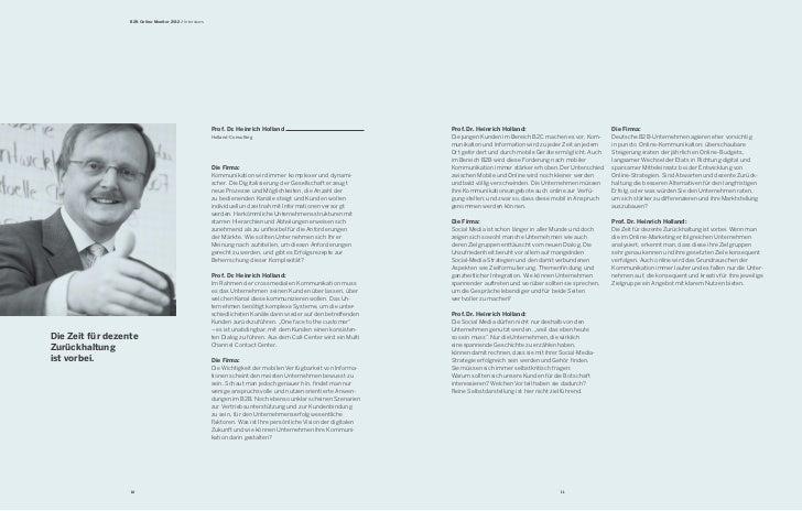 B2B Online-Monitor 2012 / Interviews                                                         Prof. Dr. Heinrich Holland   ...