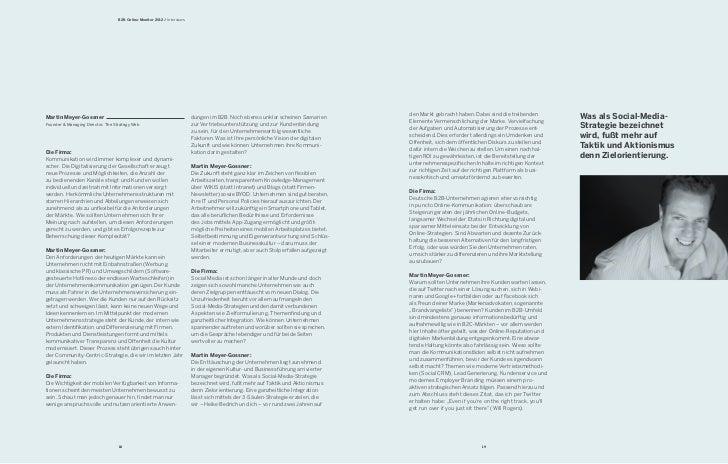 B2B Online-Monitor 2012 / InterviewsMartin Meyer-Gossner                                                     dungen im B2B...