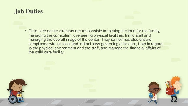 child care director job descriptions