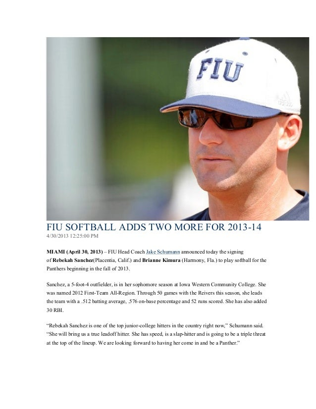 FIU SOFTBALL ADDS TWO MORE FOR 2013 ab75d46b3b
