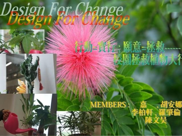 • 我們升上中一已有一段時間了 , 也在不同 的課堂及書籍上都認識了不同的植物 ,但 期間我們也發現了有很多的同學不 得正懂 確地照顧植物 , 所以我們希望透過這次的 活動來宣傳如何正確照顧植物 。