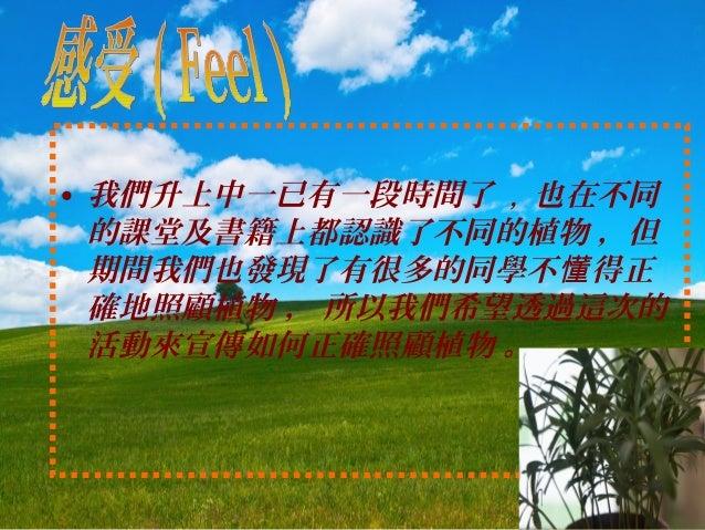 MAC-2014-034 行動=實行; 願意=拯救 - 校園拯救植物大行動 Action = Implementation; Willing = Save - Campaign of Save Plants at Campus Slide 2