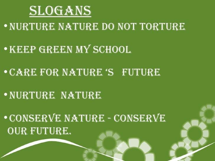Nature S Slogans