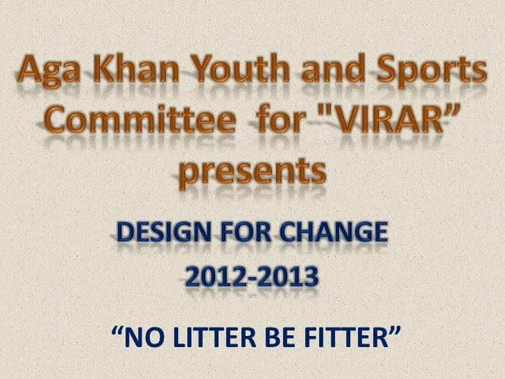 """NO LITTER BE FITTER"""