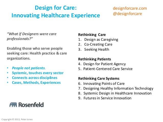 Design for Care O'Reilly webcast  Slide 2