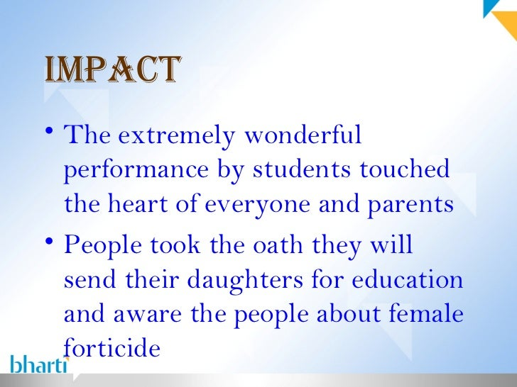 female forticide Female foeticide 1 female foeticide in india - dr vandana v 2 what is foeticide the term foeticide means killing the foetus in the mother's womb.