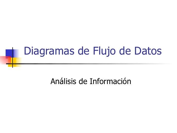 Diagramas de Flujo de Datos  Análisis de Información
