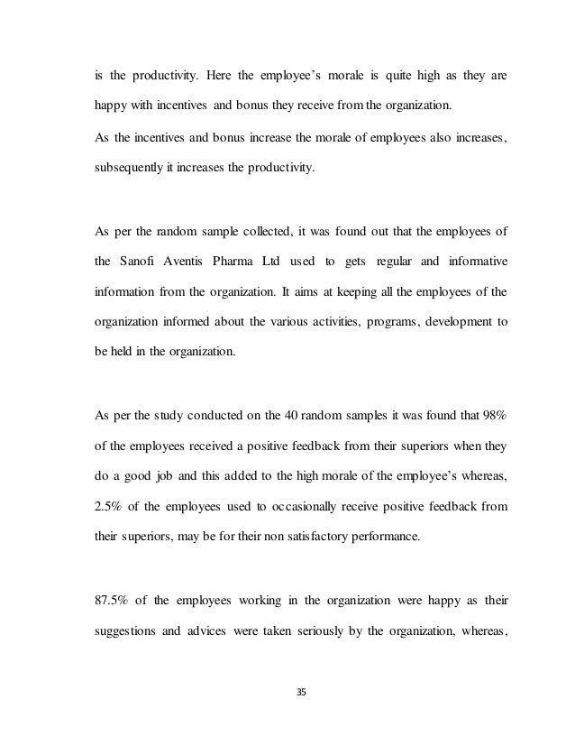 35 is the productivity. Here the employee's morale is quite high as they are happy with incentives and bonus they receive ...