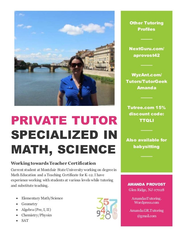 Private Tutor Flyer
