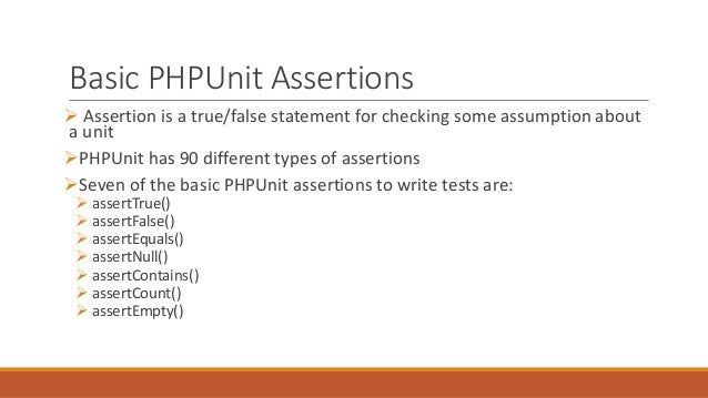 phpunit writing custom assertions