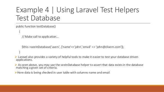 Laravel Unit Testing
