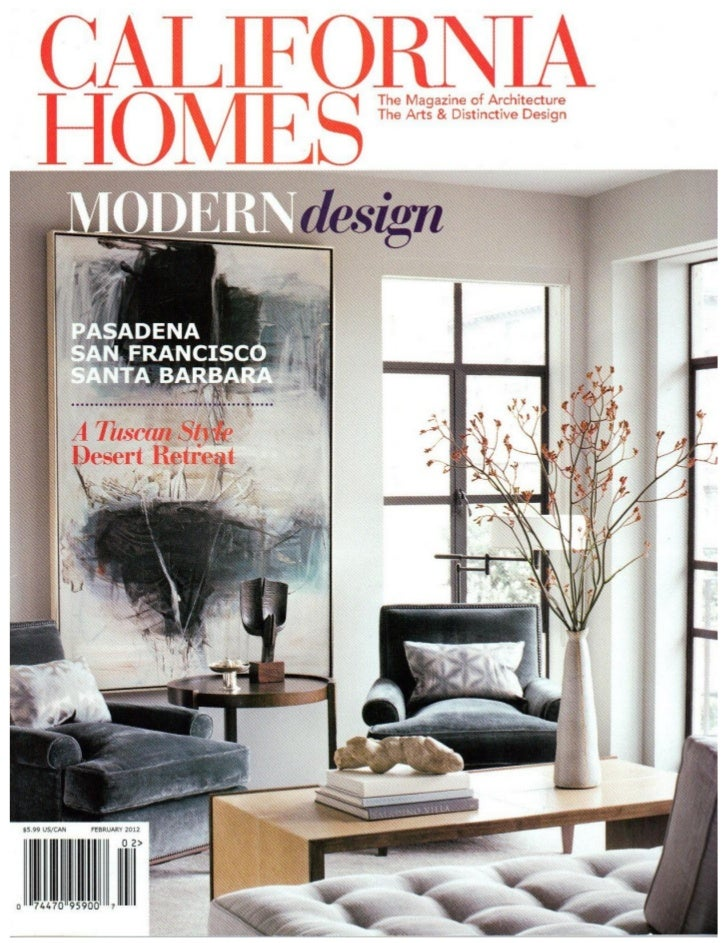D For Design Featured In The February 2012 Issue Of California Homes