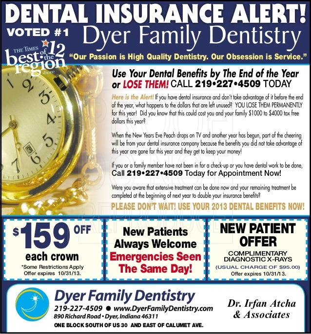 "Call 219•227•4509 Today Call 219•227•4509 Today for appointment Now! ""Our Passion is High Quality Dentistry. Our Obsession..."