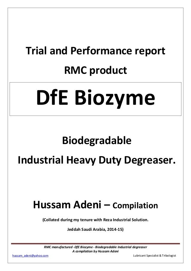 Biodegradable Industrial degreasing compilation by Hussam