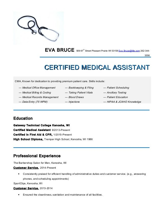 Medical-Assistant Resume.Eva Bruce
