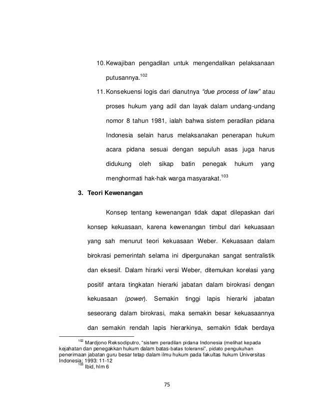 Kumpulan Judul Contoh Tesis Hukum Pidana