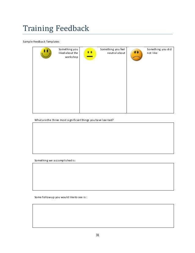 Doc600630 Training Feedback Template Training Evaluation Form – Sample Training Evaluation Form Example