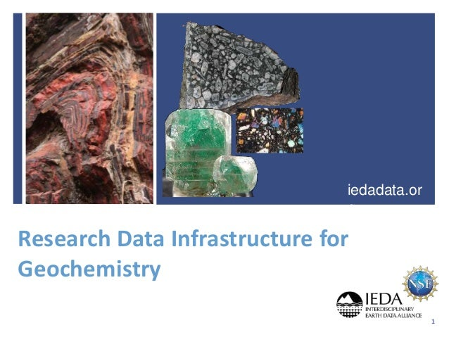 Research Data Infrastructure for Geochemistry iedadata.or g 1