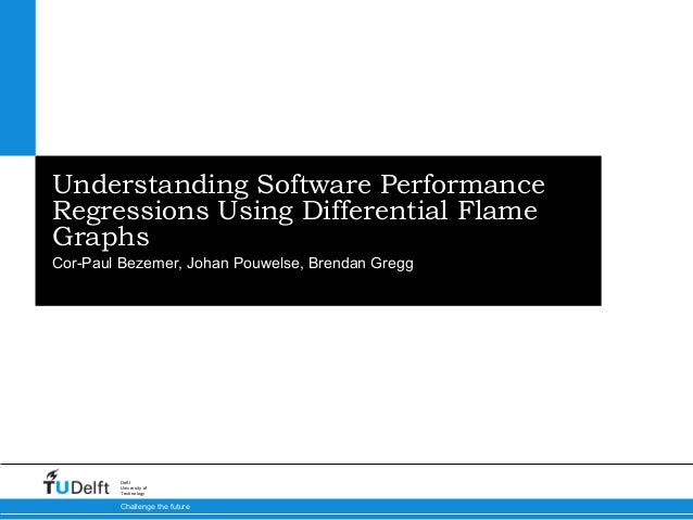 3/5/15 Challenge the future Delft University of Technology Understanding Software Performance Regressions Using Differenti...