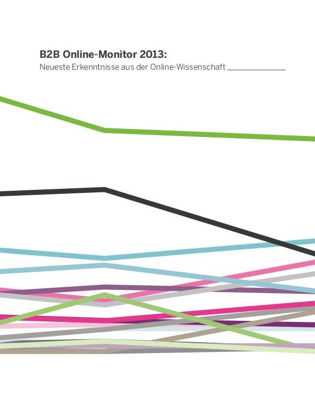 B2B Online-Monitor 2013:Neueste Erkenntnisse aus der Online-Wissenschaft