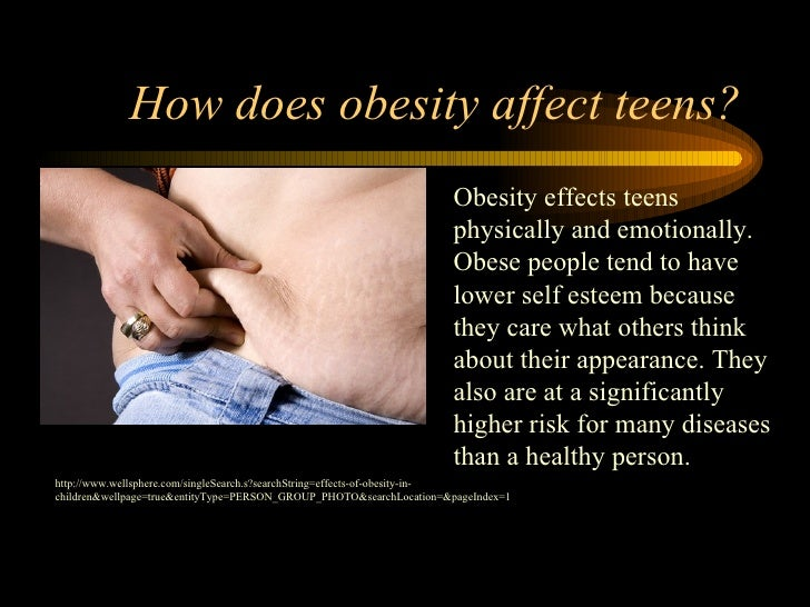 How does obesity affect teens? Obesity effects teens physically and emotionally. Obese people tend to have lower self este...