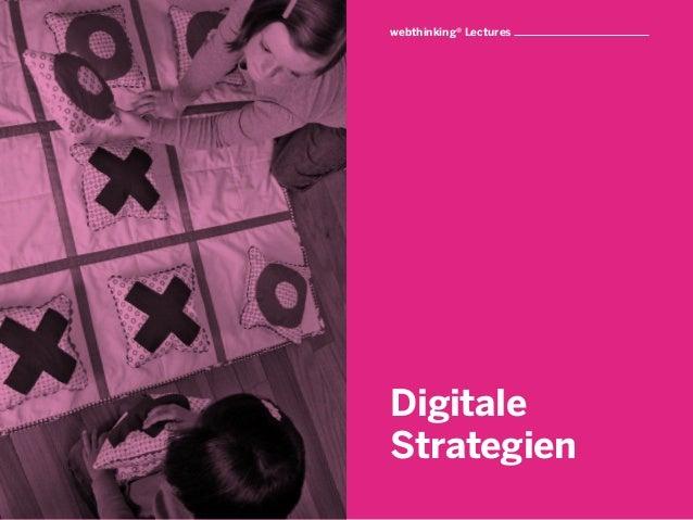 webthinking® LecturesDigitaleStrategien