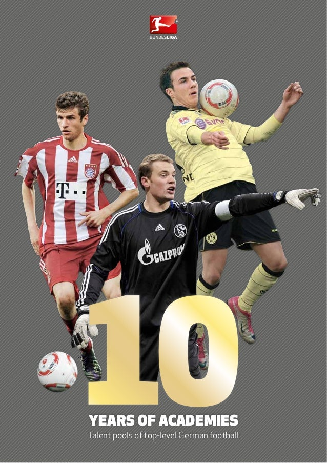 Years of academies Talent pools of top-level German football 10