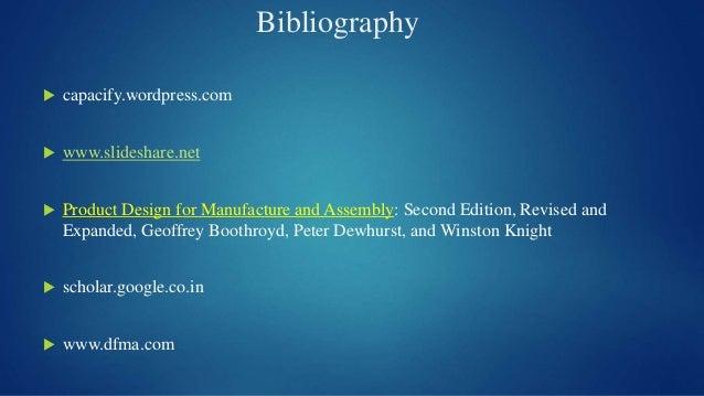 Second Edition Revised and Expanded Product Design for Manufacture and Assembly