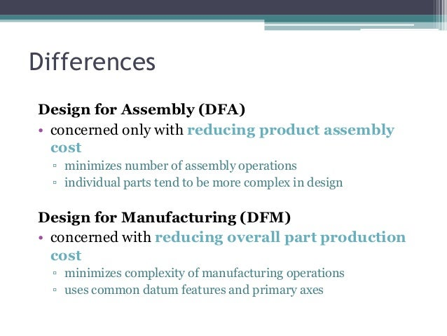 Dfma design for manufacturing and assembly for Product development and design for manufacturing