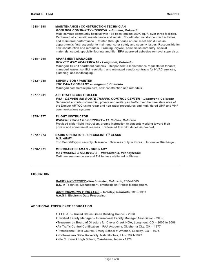 Able Seaman Resume