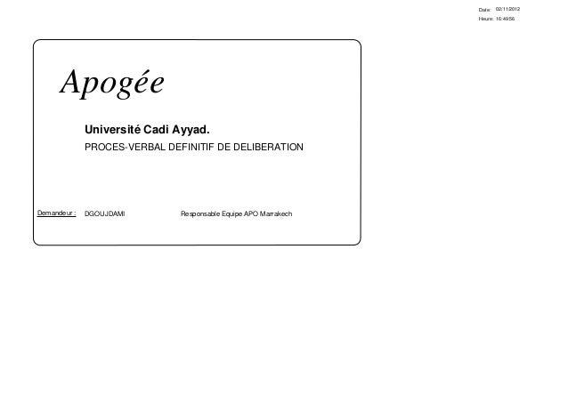 Date:   02/11/2012                                                                  Heure: 16:49:56      Apogée           ...