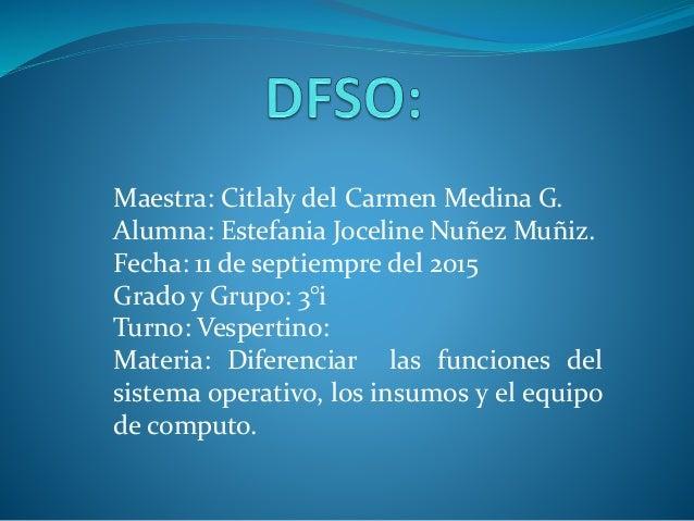 Maestra: Citlaly del Carmen Medina G. Alumna: Estefania Joceline Nuñez Muñiz. Fecha: 11 de septiempre del 2015 Grado y Gru...
