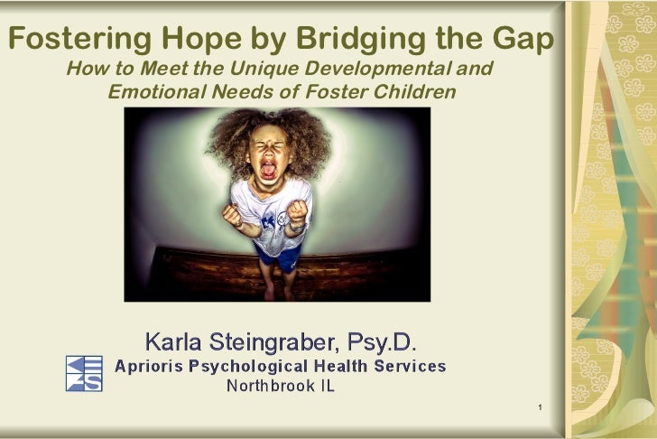 Fostering Hope by Bridging the Gap How to Meet the Unique Developmental and  Emotional Needs of Foster Children