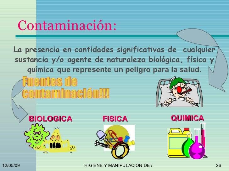 Higiene y manipilacion de alimentos - Fuentes de contaminacion de los alimentos ...