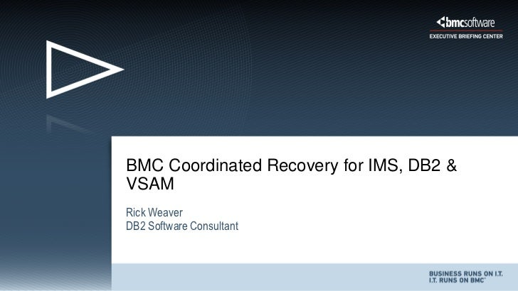 BMC Coordinated Recovery for IMS, DB2 &VSAMRick WeaverDB2 Software Consultant