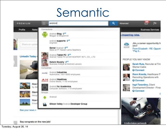Semantic  Tuesday, August 26, 14