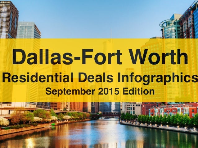 Dallas-Fort Worth Residential Deals Infographics September 2015 Edition