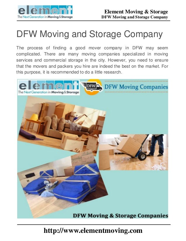 Moving And Storage Companies >> Dfw Moving And Storage Company
