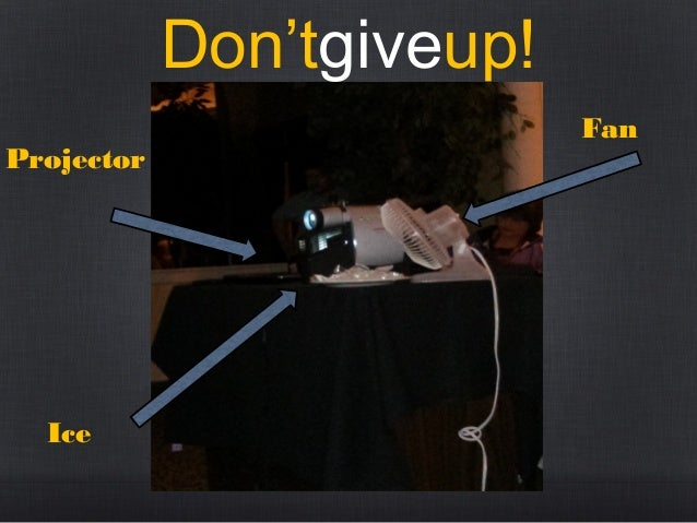 Don'tgiveup! Projector  Ice  Fan
