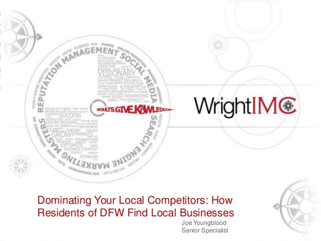 Presentation Title Here Tony Wright CEO & Founder, Wright IMC Dominating Your Local Competitors: How Residents of DFW Find...