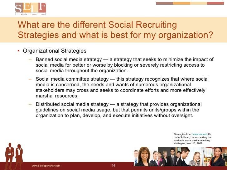 <ul><li>Organizational Strategies </li></ul><ul><ul><li>Banned social media strategy — a strategy that seeks to minimize t...