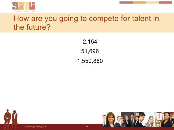 <ul><li>2,154 </li></ul><ul><li>51,696 </li></ul><ul><li>1,550,880 </li></ul>How are you going to compete for talent in th...