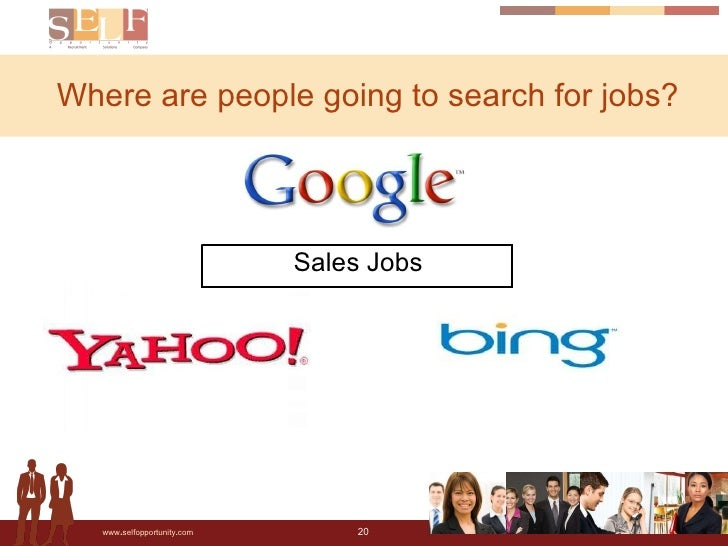 Where are people going to search for jobs? Sales Jobs