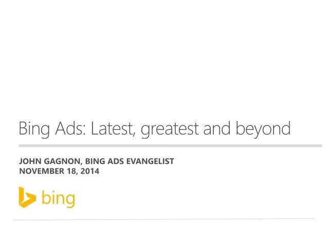 John Gagnon  BLOGGER  SPEAKER  FORMER GOOGLE GUY, SEARCH CAMPAIGN MANAGER, DATA ANALYST  #StateofSearch | @jmgagnon | @bin...