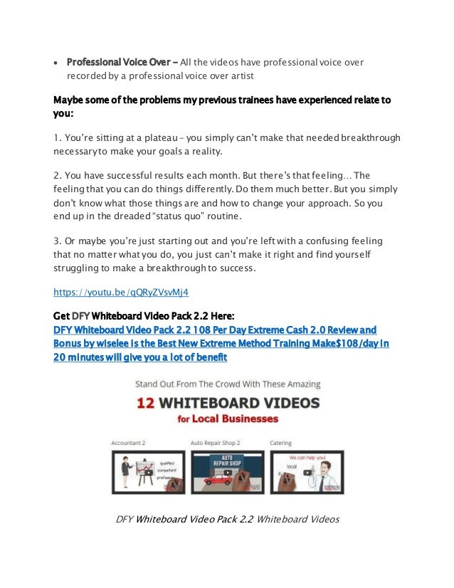 DFY Whiteboard Video Pack Per Day Extreme Cash Review And - 20 pictures that will just make your day so much better