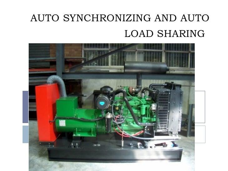 Generator Synchronizing Panel Wiring Diagram : Dg synchronisation process
