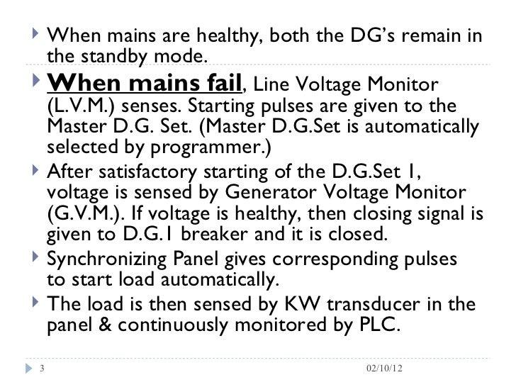 Dg synchronisation process Slide 3